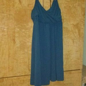 Elle - Teal Blue Spaghetti Strap Sun Dress